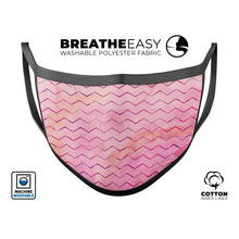 The Pink Watercolor Paint Blend with Multicolor Chevron  - Made in USA - Le Miller Store