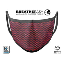 Wine Basic Watercolor Chevron Pattern - Made in USA Mouth Cover Unisex - Le Miller Store