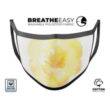 Yellow Orange Watercolored Hibiscus - Made in USA Mouth Cover Unisex - Le Miller Store