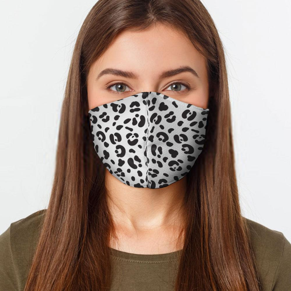 White Cheetah Face Cover - Le Miller Store