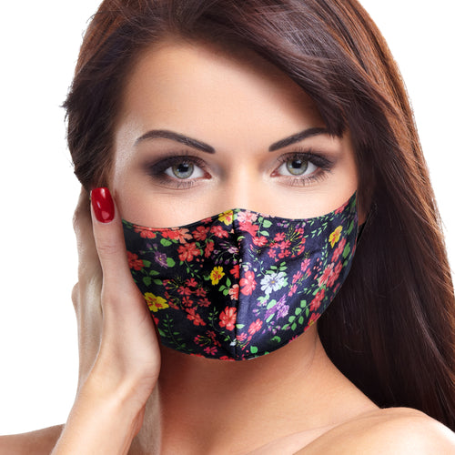 Turquoise Floral Face Mask - Le Miller Store