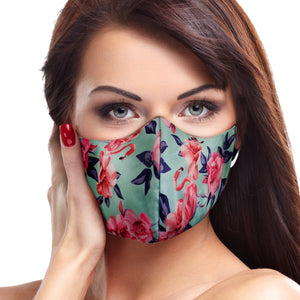 Teal Flamingo Face Mask - Le Miller Store