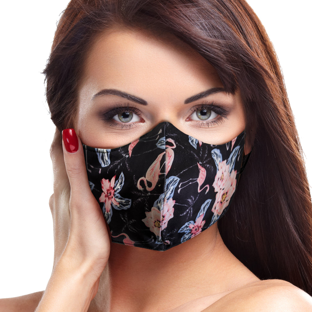 Black Flamingo Face Mask - Le Miller Store