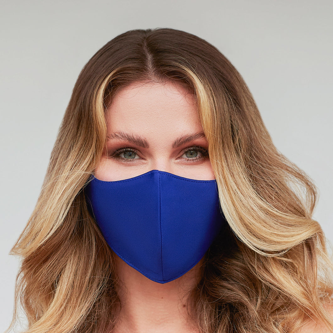Solid Royal Blue Face Mask - Le Miller Store