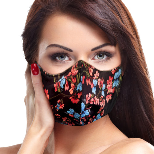 Blue Butterfly Floral Face Mask - Le Miller Store
