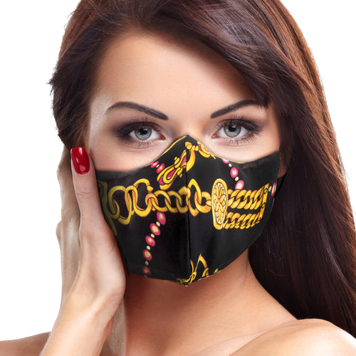 Gold Chains Face Mask - Le Miller Store