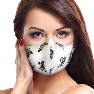 White Butterfly Face Mask - Le Miller Store