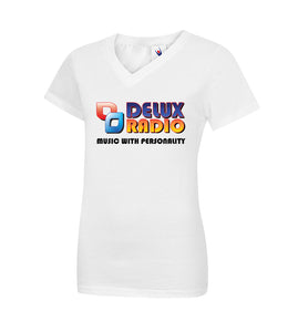 DELUX Radio Ladies Classic V-Neck T Shirt