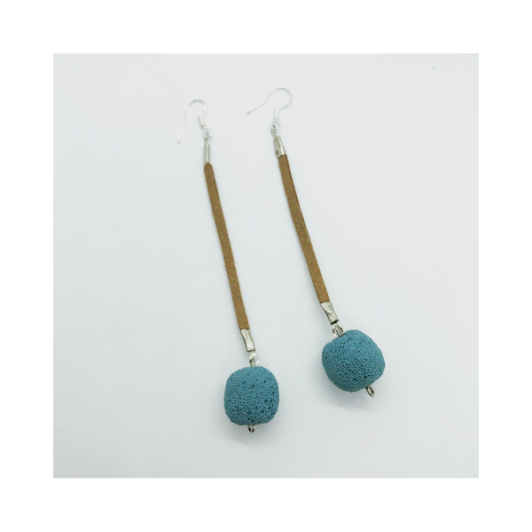 Blue Boho Berry Earrings