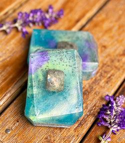 THE MAGICIAN ~ Labradorite Crystal Infused Soap