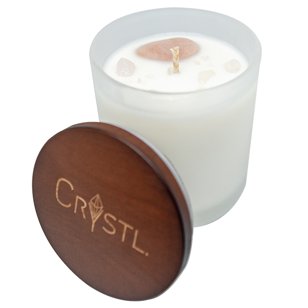 LOVE ~ Crystal infused scented candle 50 hr burn time