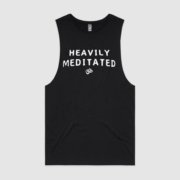 Black tank top - Heavily Meditated