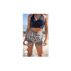 White Cheetah Midi Shorts