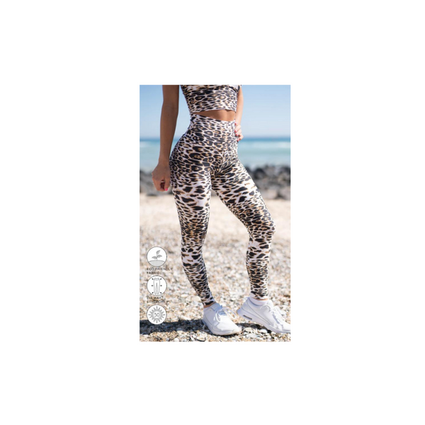 White Cheetah Ultra High Waist Leggings