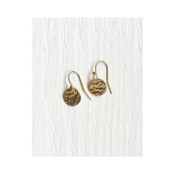 Full Moon Earrings Gold
