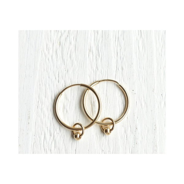 Golden Honeydrop Hoops