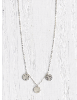 Moondrop Necklace Silver