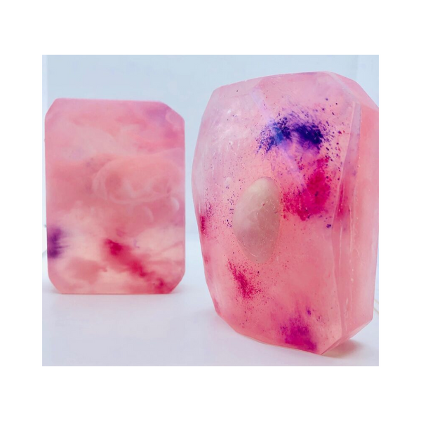 THE LORD OF LOVE ~ Rose Quartz Crystal Soap