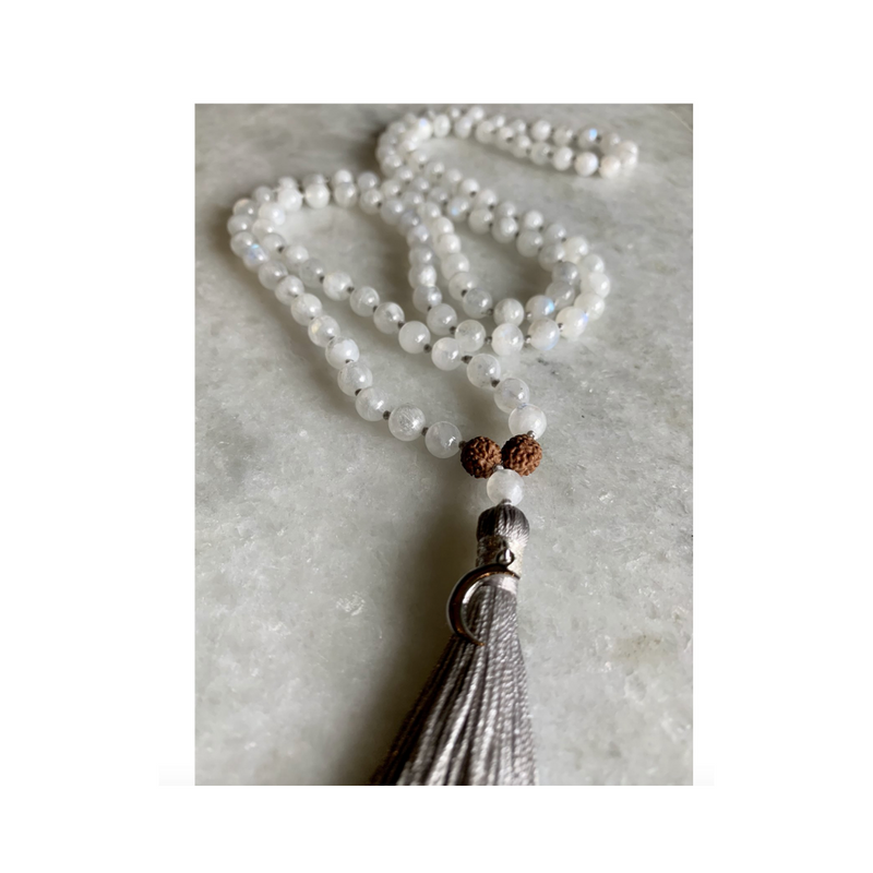 CHANDRA Rainbow Moonstone Mala