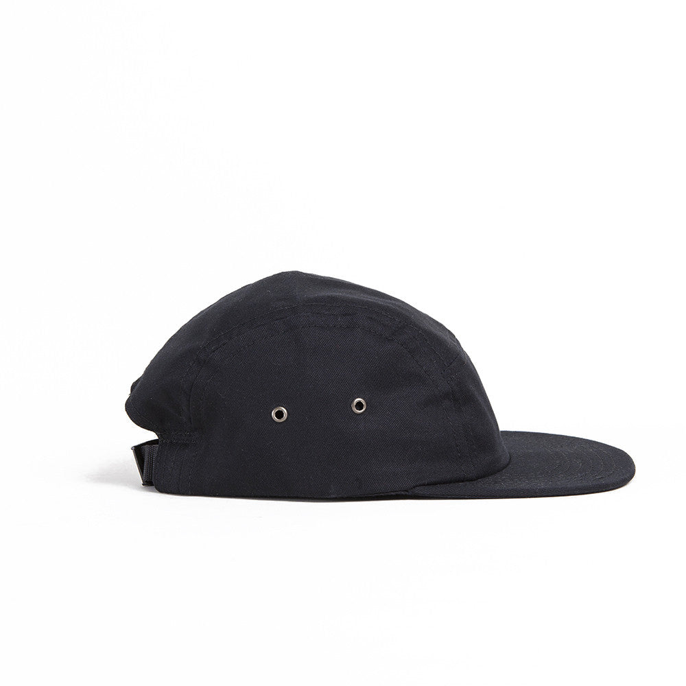 Black Waxed Cotton Camp Cap