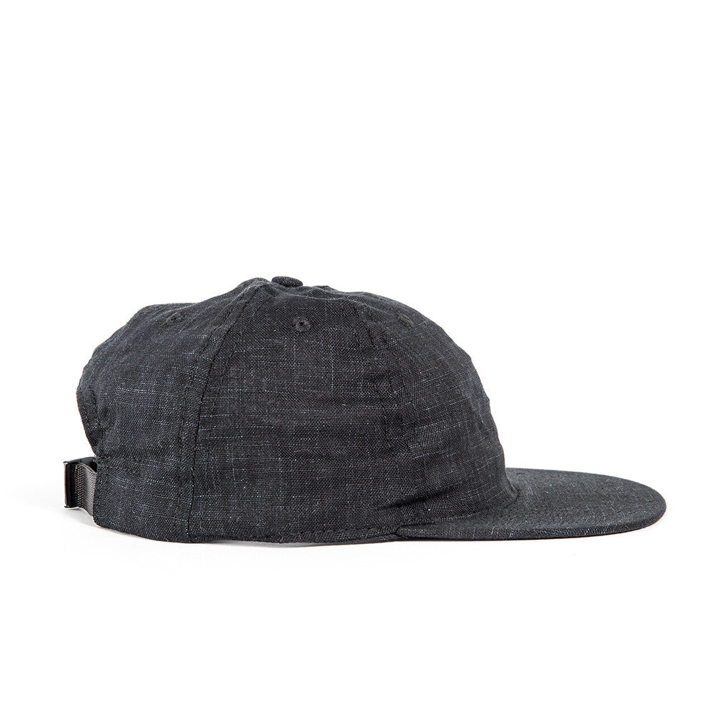 Black Indigo Linen Ball Cap *OLD SKU*