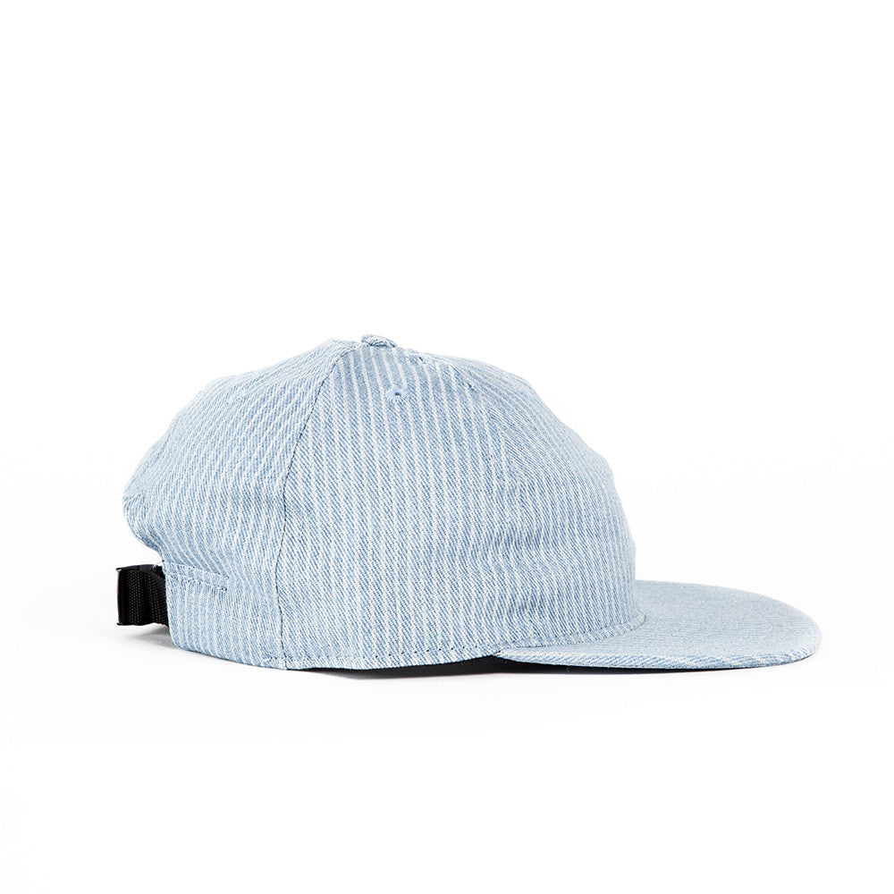 Denim Hickory Striped Canvas Ball Cap
