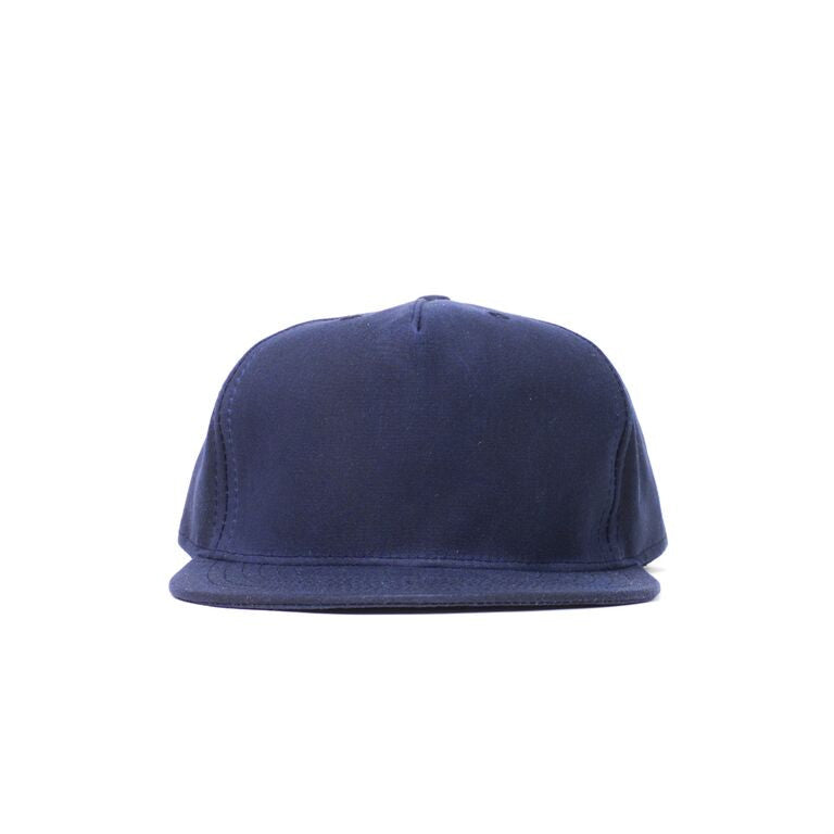 Navy Waxed Cotton Farm Cap