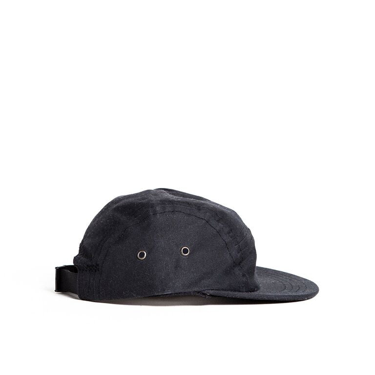 Black Waxed Camp Cap Baby