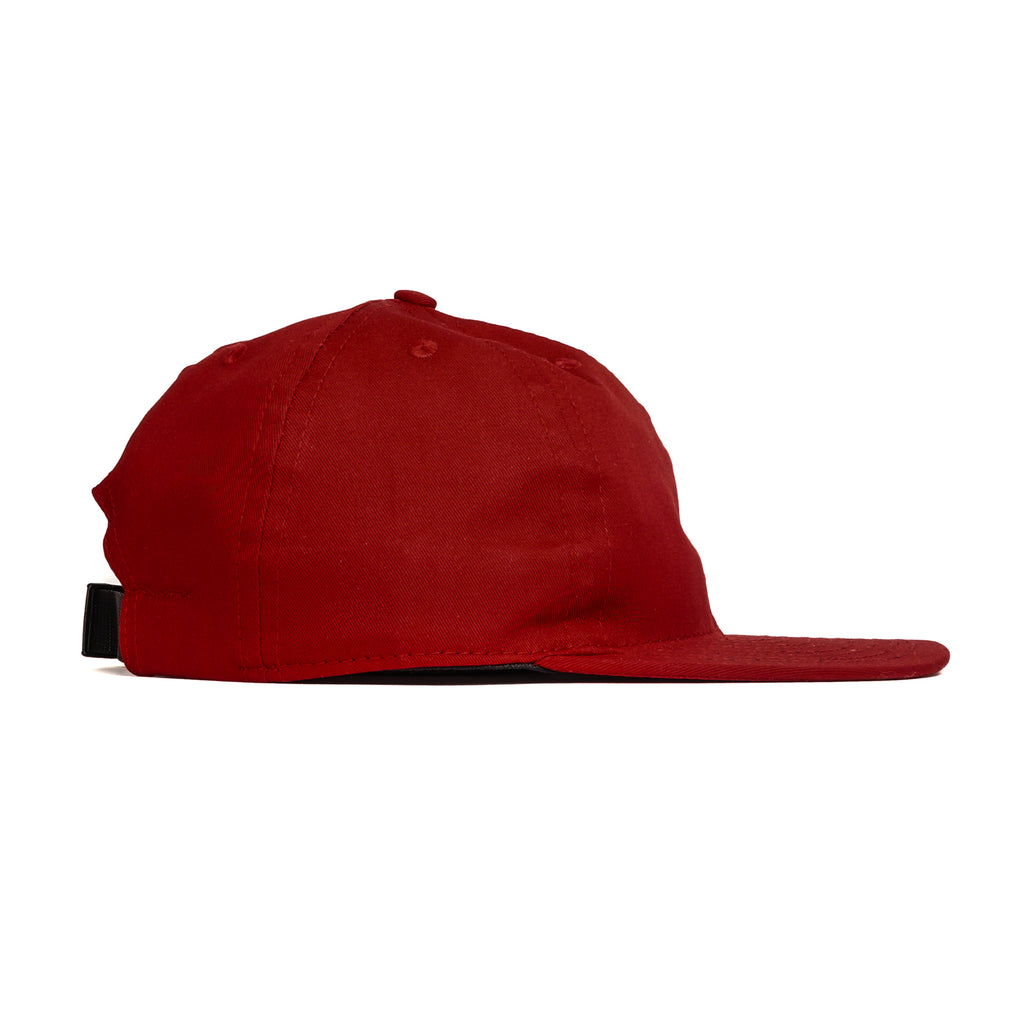 Chili Red Cotton Twill Ball Cap