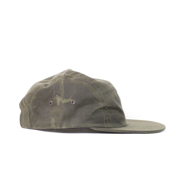 Olive Waxed Cotton Camp Cap