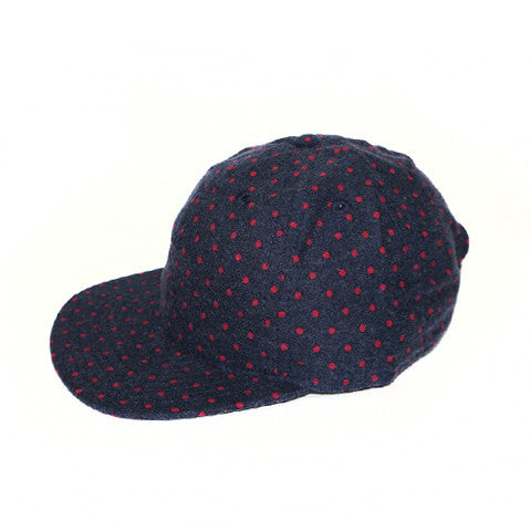 Navy Dot Red Ball Cap