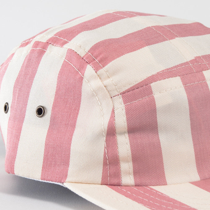 Rose Beach Stripe Camp Cap