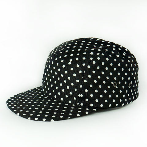Black Polka Camp Cap Baby