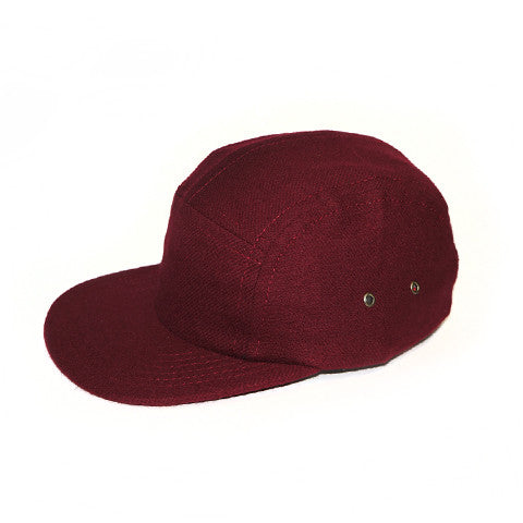 Maroon Flannel Camp Cap