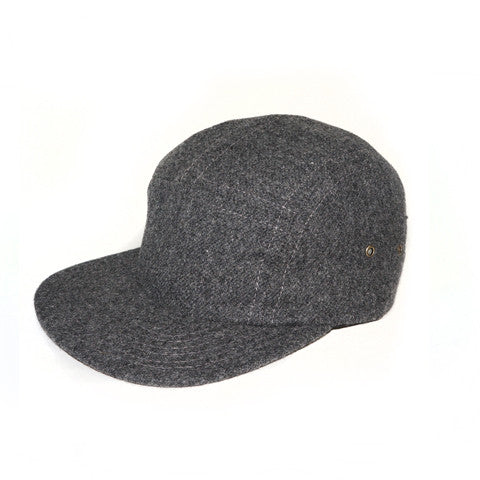 Charcoal Flannel Camp Cap