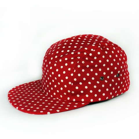 Red Polka Camp Cap Youth