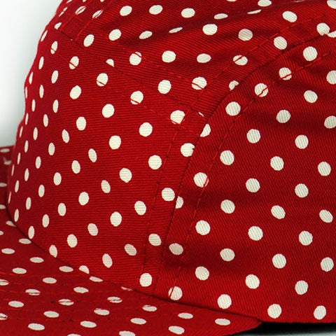 Red Polka Camp Cap Baby
