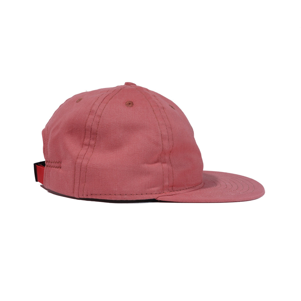 Beach Red Brushed Cotton Ball Cap