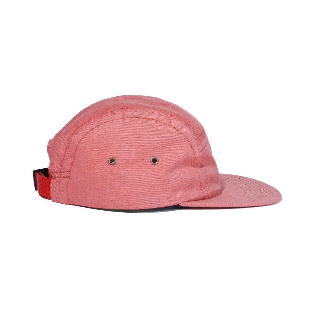 Beach Red Brushed Cotton Camp Cap