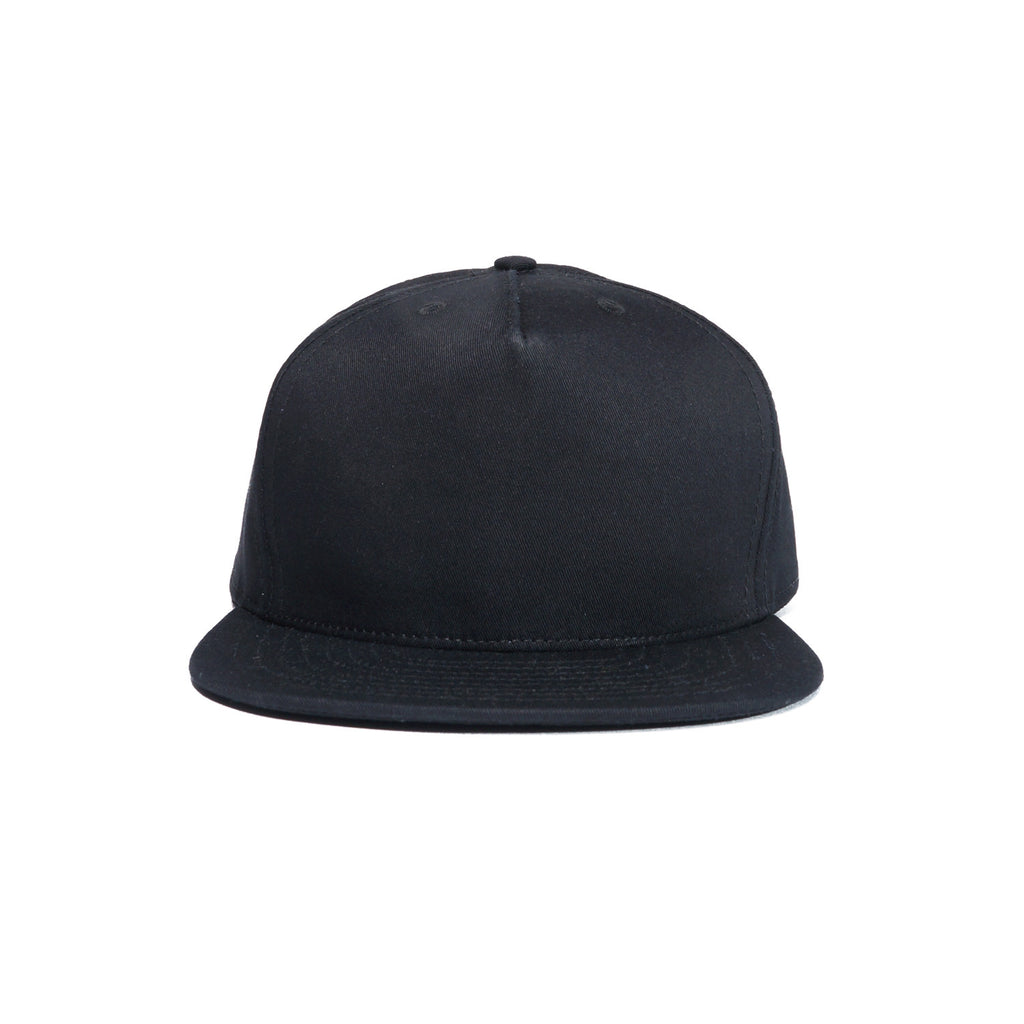 Black Organic Cotton Twill Farm Cap