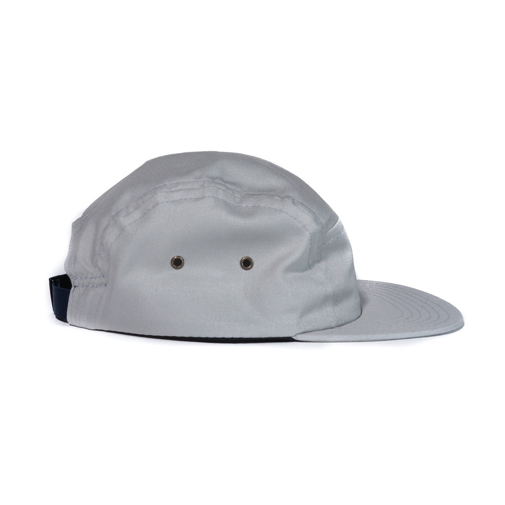 Light Grey Organic Cotton Twill Camp Cap