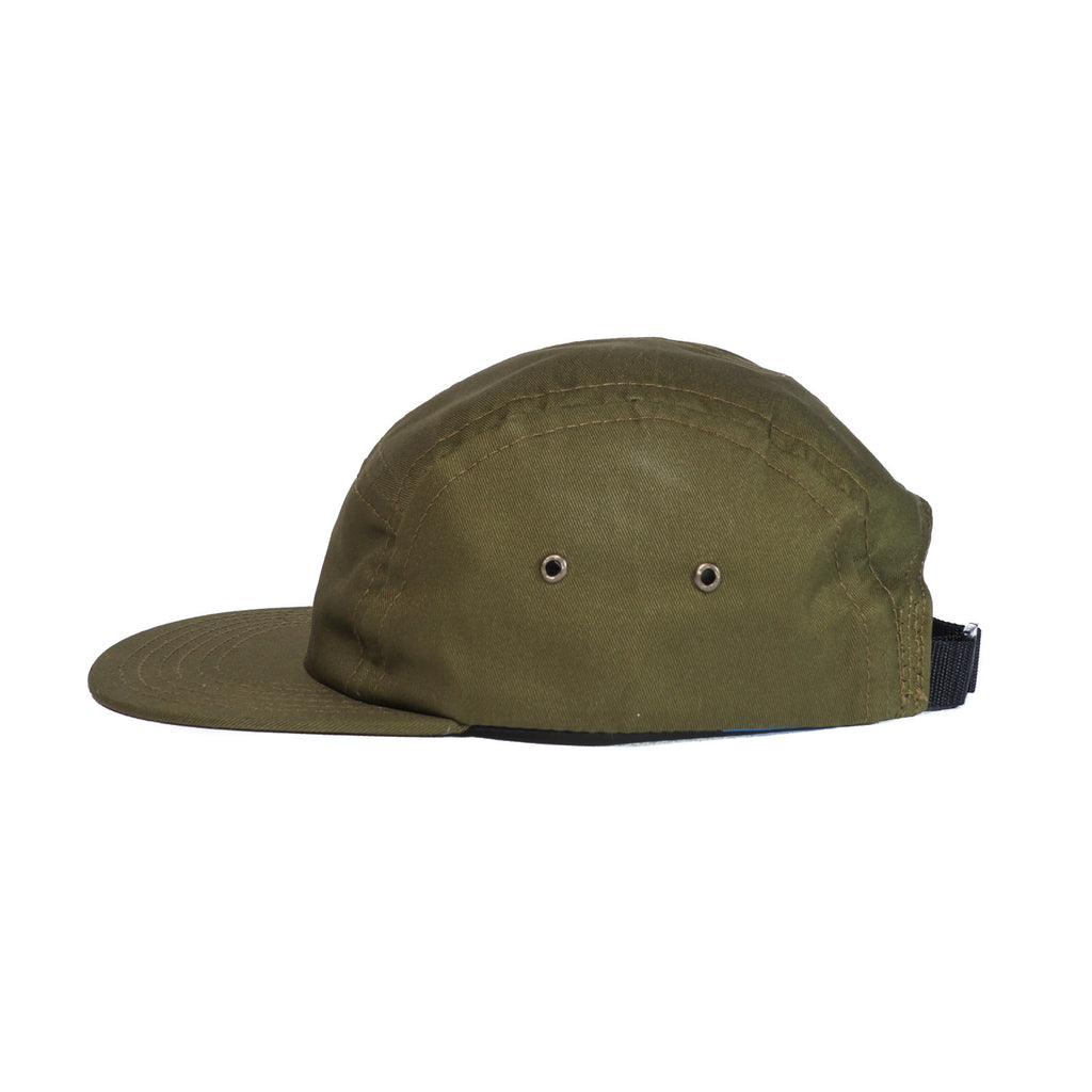 Olive Organic Cotton Twill Camp Cap