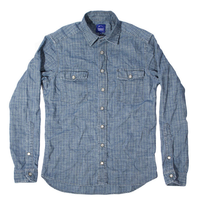 Chambray Stripe Denim Glacier Shirt