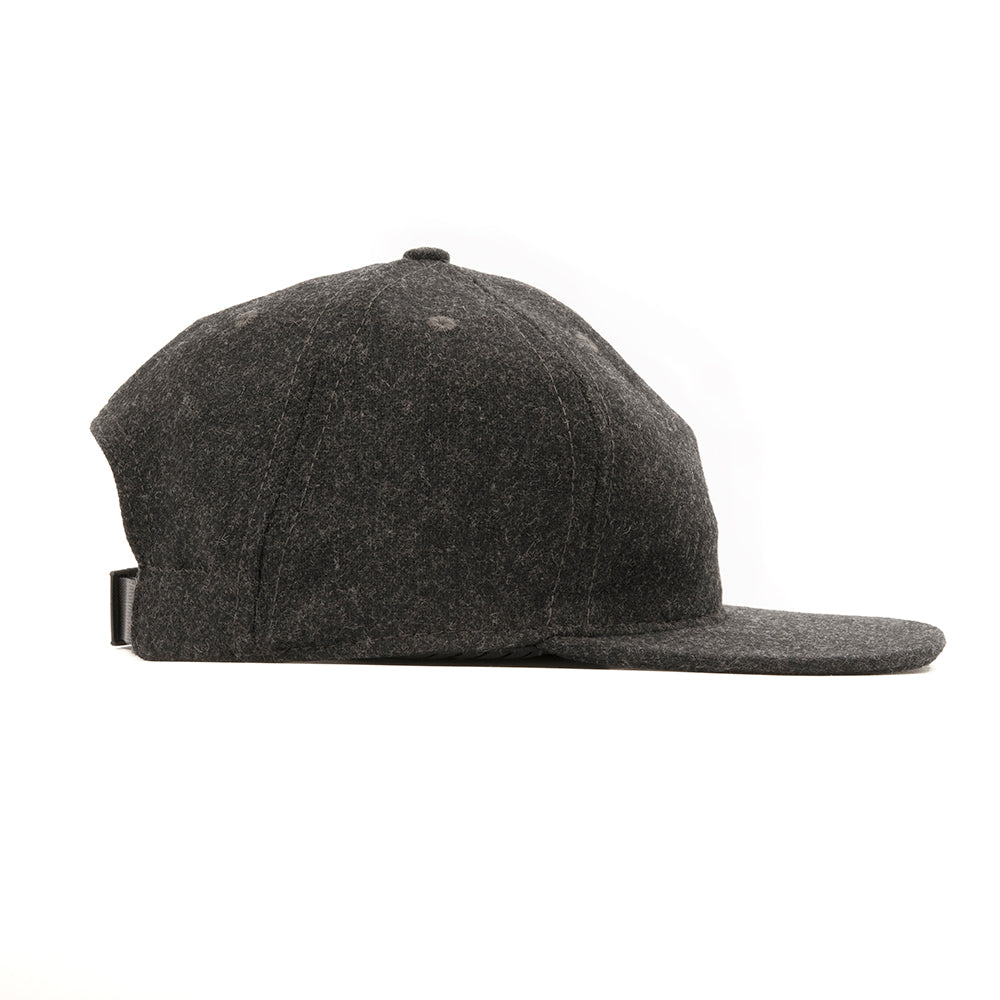 Charcoal Grey Flannel Ball Cap