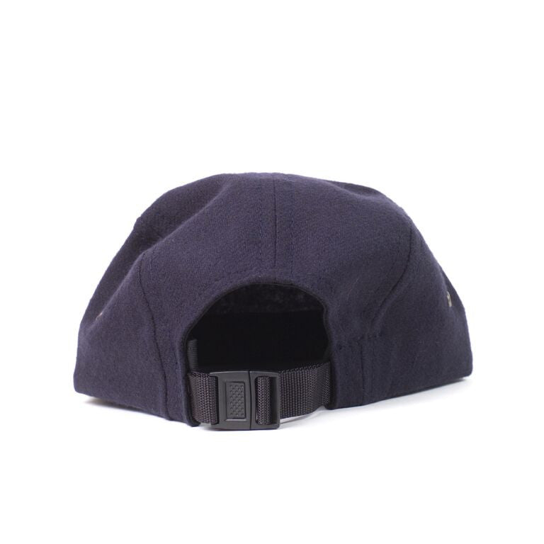 Navy Flannel Camp Cap