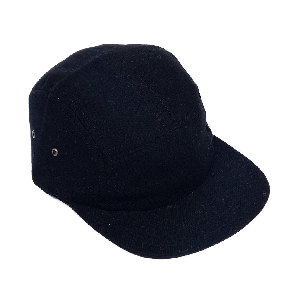 Black Flannel Camp Cap