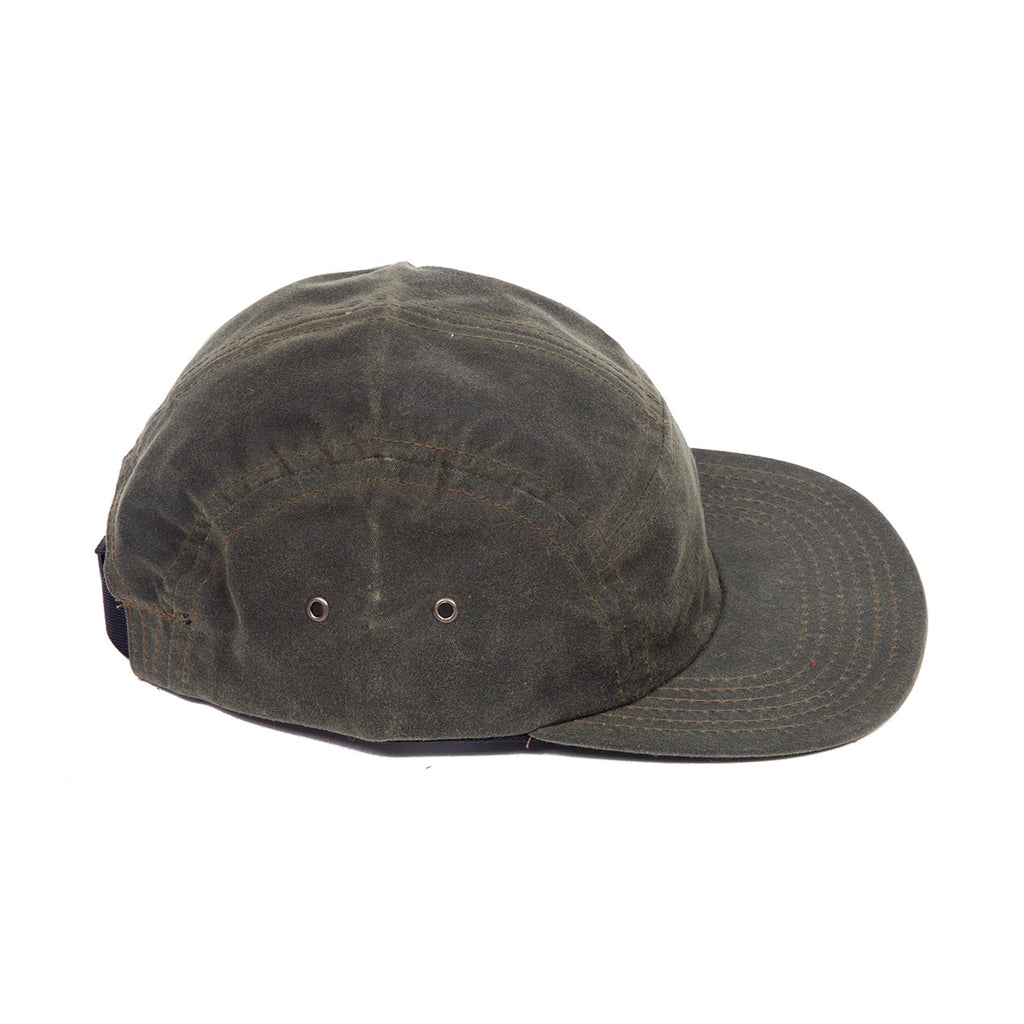 Olive Waxed Canvas Camp Cap