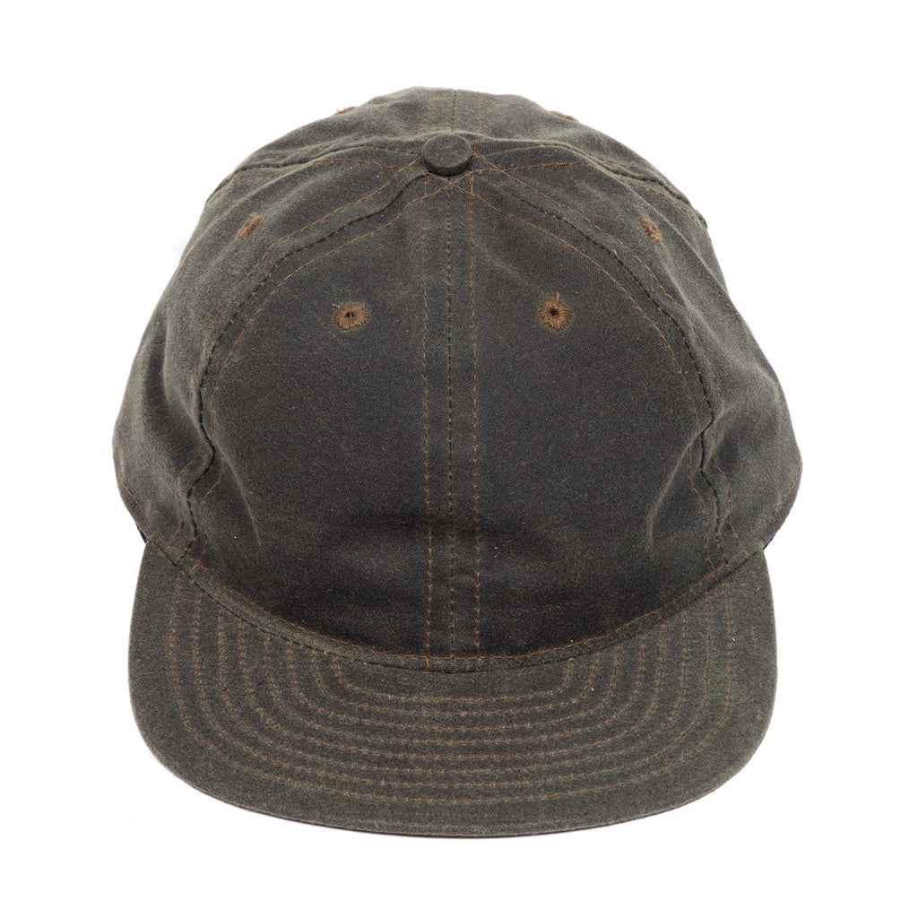 Olive Waxed Canvas Ball Cap