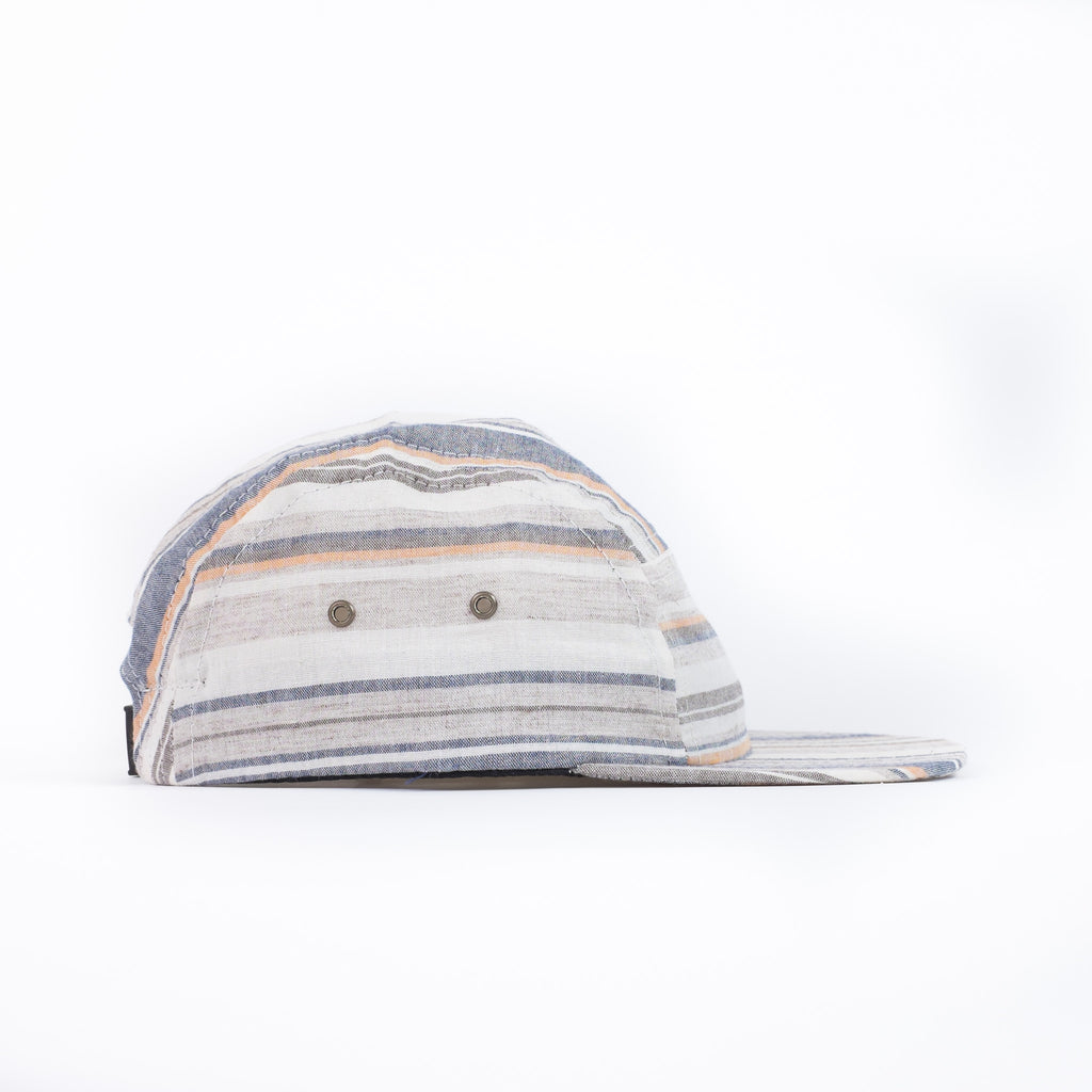 Beige Multi Stripe Camp Cap