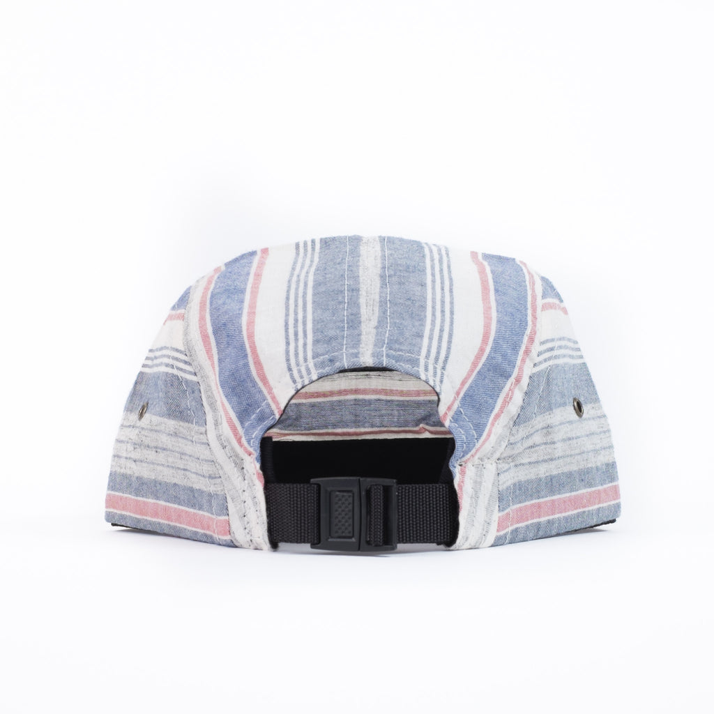 Blue Multi Stripe Camp Cap